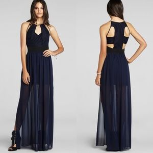 BGBGeneration Cut Out Maxi Dress with Slits
